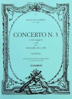 BOCCHERINI - Concerto n° 3 Cello, sol maggiore G. 480 - Partition - di-arezzo.fr