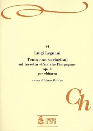 Luigi Rinaldo Legnani - Tema con variazioni, op. 4 - Partition - di-arezzo.fr