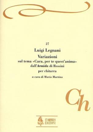 Luigi Rinaldo Legnani - Variazioni dall'Armida di Rossini - Partition - di-arezzo.fr