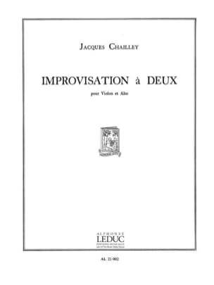 Improvisation à deux Jacques Chailley Partition 0 - laflutedepan