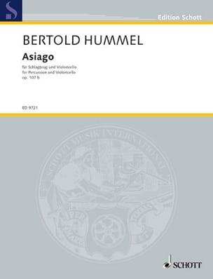 Bertold Hummel - Asiago op. 107 b - Partition - di-arezzo.fr