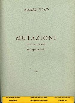 Mutazioni - Roman Vlad - Partition - Guitare - laflutedepan.com