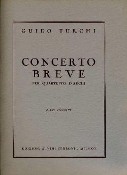 Guido Turchi - Concerto breve –Parti staccate - Partition - di-arezzo.fr