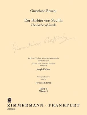 Rossini Gioacchino / Küffner Joseph - Der Barbier von Sevilla - Heft 3 - Flute Violine Viola Cello - Part. St. - Sheet Music - di-arezzo.com