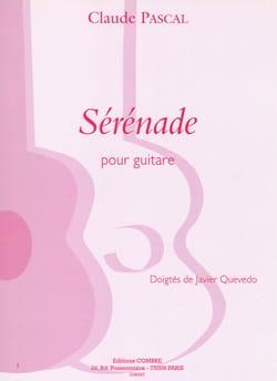 Sérénade - Claude Pascal - Partition - Guitare - laflutedepan.com