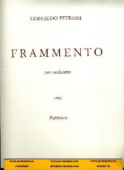 Frammento - Goffredo Petrassi - Partition - laflutedepan.com