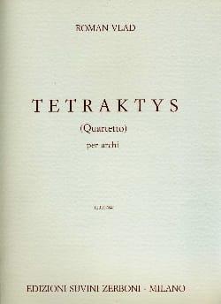 Roman Vlad - Tetraktys Quartetto - Sheet Music - di-arezzo.co.uk