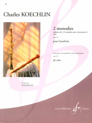 Charles Koechlin - 2 Monodies op. 213 - Partition - di-arezzo.fr