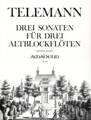 TELEMANN - 3 Sonatas für 3 Altblockflöten - Sheet Music - di-arezzo.co.uk
