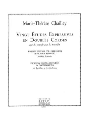 Marie Thérèse Chailley - 20 estudios expresivos en cuerdas dobles - Partitura - di-arezzo.es