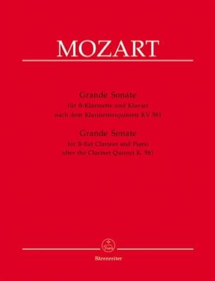 Wolfgang Amadeus Mozart - Grande sonate KV 581 – Klarinette in B und Klavier - Partition - di-arezzo.fr