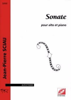 Jean-Pierre Sciau - Sonate - Partition - di-arezzo.fr