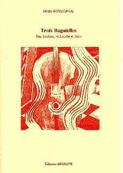 Trois bagatelles - Bruno Rossignol - Partition - laflutedepan.com