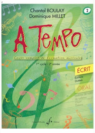 BOULAY - MILLET - A Tempo Volume 2 - Ecrit - Partition - di-arezzo.fr