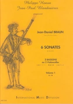Jean-Daniel Braun - 6 Sonates Volume 1 - Partition - di-arezzo.fr