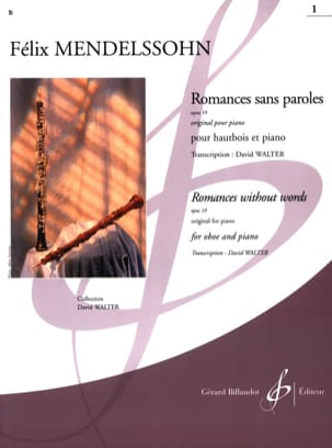 Romances Sans Paroles Volume 1 : Opus 19 MENDELSSOHN laflutedepan
