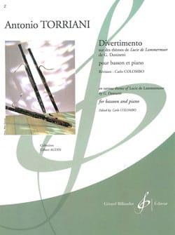 Divertimento - Antonio Torriani - Partition - laflutedepan.com