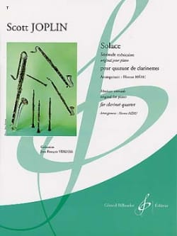 Scott Joplin - Solace - Clarinet Quartet - Sheet Music - di-arezzo.com