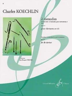 2 Monodies op. 213 - Charles Koechlin - Partition - laflutedepan.com