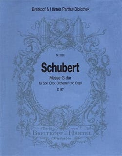 Messe G-Dur D 167 - Set SCHUBERT Partition laflutedepan