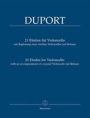 Jean Louis Duport - 21 Studies for cello - Sheet Music - di-arezzo.com