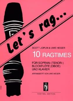 Let's Rag... 10 Ragtimes JOSPLIN Partition Flûte à bec - laflutedepan