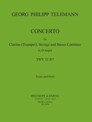 TELEMANN - Konzert D-Dur - Trompette/Cordes/Bc - Partition - di-arezzo.fr