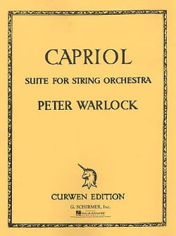 Capriol Suite Peter Warlock Partition ENSEMBLES - laflutedepan