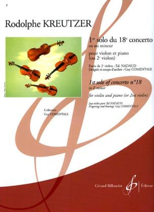 Rodolphe Kreutzer - 1st Solo of the Concerto No. 18 Comentale - Sheet Music - di-arezzo.co.uk