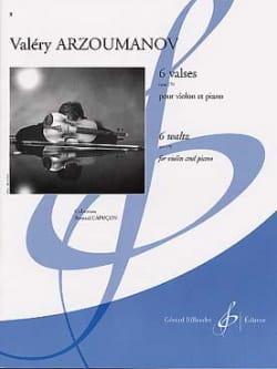Valéry Arzoumanov - 6 Valses op. 170 - Partition - di-arezzo.fr