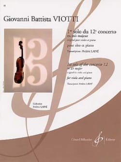Giovanni Battista Viotti - 1st solo of Concerto No. 12 in E flat major - Sheet Music - di-arezzo.com