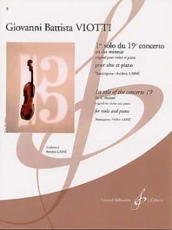 1er solo du Concerto n° 19 en do mineur VIOTTI Partition laflutedepan
