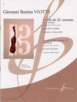 Giovanni Battista Viotti - 1st solo of the Concerto n ° 22 in D minor - Sheet Music - di-arezzo.co.uk