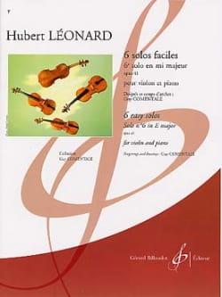 Hubert Léonard - 6ème Solo en mi majeur, op. 41 (Comentale) - Partition - di-arezzo.fr