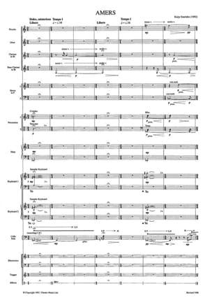 Amers - Score Kaija Saariaho Partition Grand format - laflutedepan