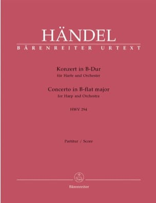 HAENDEL - Konzert in B-Dur for Harfe u. Orchester HWV 294 - Partition - di-arezzo.co.uk
