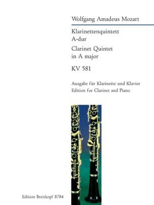 Klarinettenquintett A-Dur KV 581 - Klarinette Klavier - laflutedepan.com