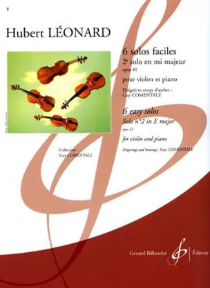 2ème Solo en mi majeur, op. 41 Comentale Hubert Léonard laflutedepan