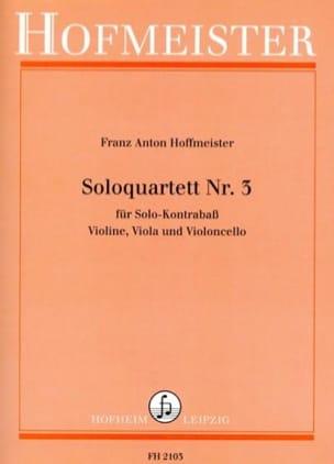Franz Anton Hoffmeister - Solo Quatuor N°3 - Partition - di-arezzo.fr
