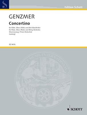 Concertino- Flöte Oboe Klavier - Harald Genzmer - laflutedepan.com