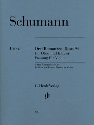 SCHUMANN - Three Romances op. 94 for oboe and piano - Partition - di-arezzo.com