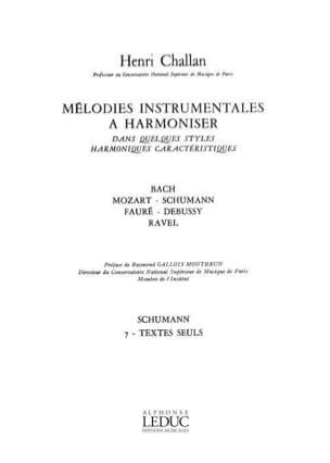 Henri Challan - Melodies Instrumentales à Harmoniser - Partition - di-arezzo.fr