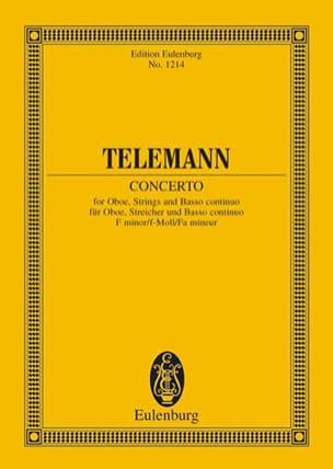 TELEMANN - Oboen-Konzert F-Moll - Partition - di-arezzo.fr