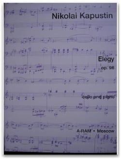 Elegy op. 96 - Nikolai Kapustin - Partition - laflutedepan.com