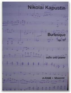 Burlesque op. 97 Nikolai Kapustin Partition Violoncelle - laflutedepan