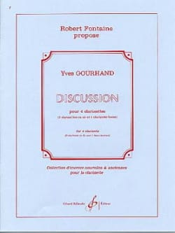 Discussion Yves Gourhand Partition Clarinette - laflutedepan