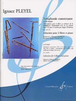 Ignaz Pleyel - Symphonie Concertante en Sol Majeur - Partition - di-arezzo.fr