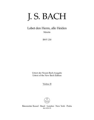 Lobet den Herrn, alle Heiden. BWV 230 - violon 2 - laflutedepan.com