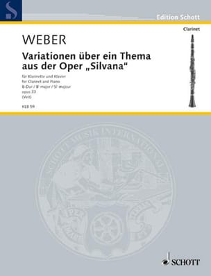 Variationen op. 33 über ein Thema aus der Oper Silvana laflutedepan