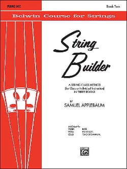 Samuel Applebaum - String Builder, Volume 2 - Accompagnement piano - Partition - di-arezzo.fr